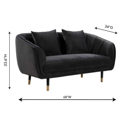 Tov Furniture - Arti Grey Velvet Loveseat