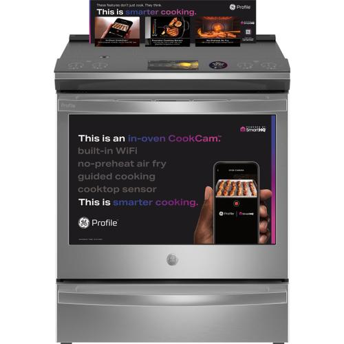 "GE Appliances - GE Profile™ 30"" Smart Slide-In Front-Control Induction Fingerprint Resistant Range with In Oven Camera"