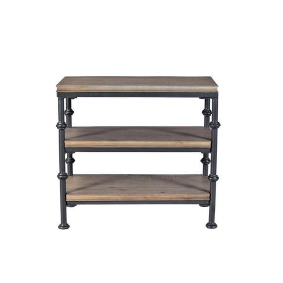 Riverside - Revival - Chairside Table - Spanish Grey Finish
