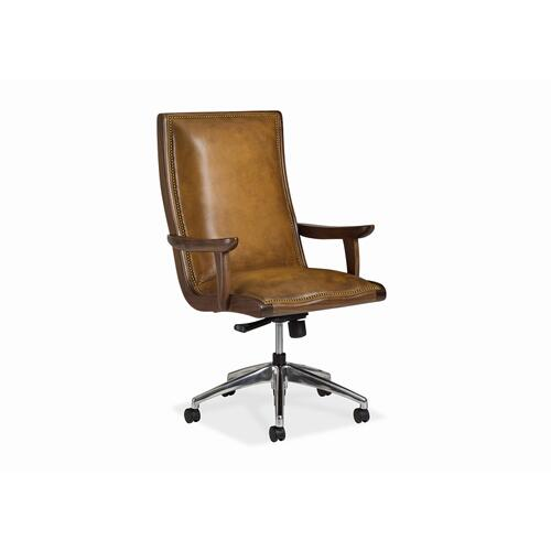 Yachtsman Swivel Tilt Pneumatic Lift Chair with Walnut Wood