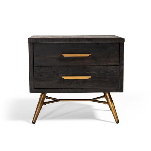 Nova Domus Tabitha Modern Dark Brown Recycled Pine Nightstand