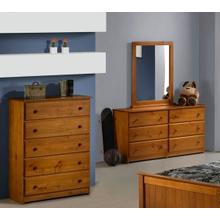 Tucson 5 Drawer Chest, Double Dresser, Mirror