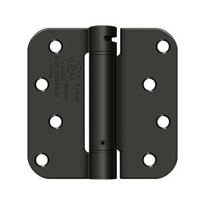 """Deltana - 4"""" x 4"""" x 5/8"""" Spring Hinge, UL Listed - Oil-rubbed Bronze"""