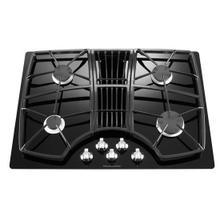 See Details - KitchenAid® 30-Inch 4 Burner Downdraft Gas Cooktop, Architect® Series II - Black