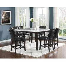 View Product - Francis 7 Piece 54-inch Square Marble Top Set(Counter Table & 6 Counter Chairs)