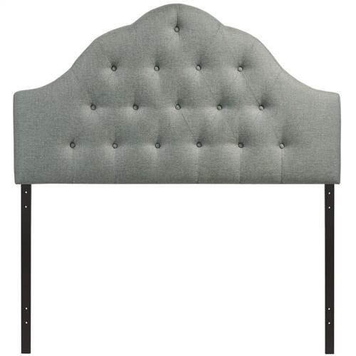 Sovereign King Upholstered Fabric Headboard in Gray