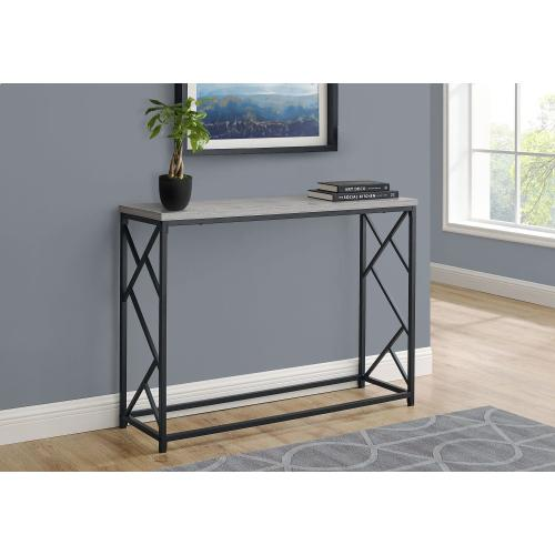 """ACCENT TABLE - 44""""L / GREY / BLACK METAL HALL CONSOLE"""
