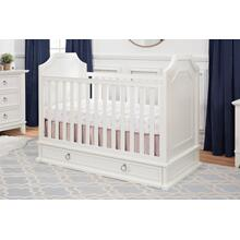 Warm White Emma Regency 3-in-1 Convertible Crib with Storage Trundle