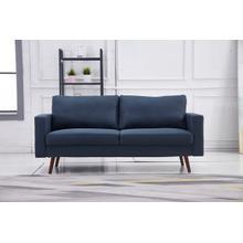 See Details - 8125 NAVY Linen Stationary Basic Sofa