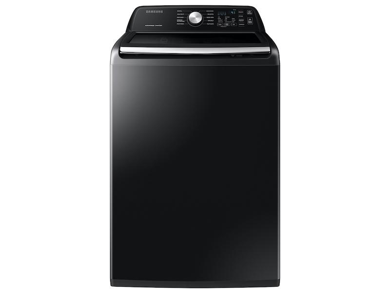 Samsung4.5 Cu. Ft. Capacity Top Load Washer With Active Waterjet In Brushed Black