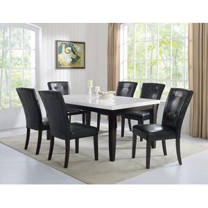 Francis 70 inch White Marble Top Dining Table