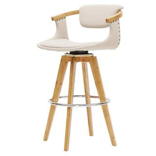 Darwin KD Fabric Bamboo Counter Stool, Stokes Linen/Natural