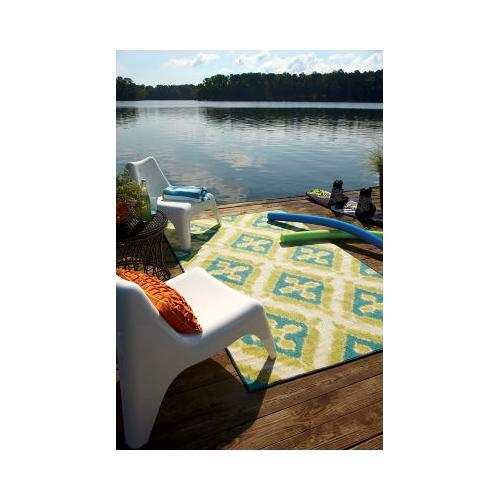 Mohawk - Summer Splash, Turquoise- Rectangle