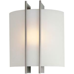 Wall Sconce, Ps W/frost Glass Shade, 60w/b Type
