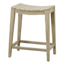 See Details - Elmo Wooden Counter Stool, Washed Gray