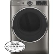 GE® 7.8 cu. ft. Capacity Smart Front Load Electric Dryer with Steam Product Image
