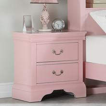 Louis Night Stand, Light-pink