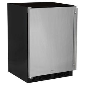 24-In Built-In Refrigerator Freezer With Maxstore Bin with Door Style - Stainless Steel, Door Swing - Left