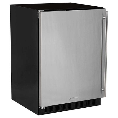 24-In Built-In Refrigerator Freezer With Maxstore Bin with Door Style - Stainless Steel, Door Swing - Left
