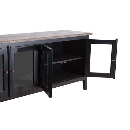 Buffet, Available in White Teak Finish Only.