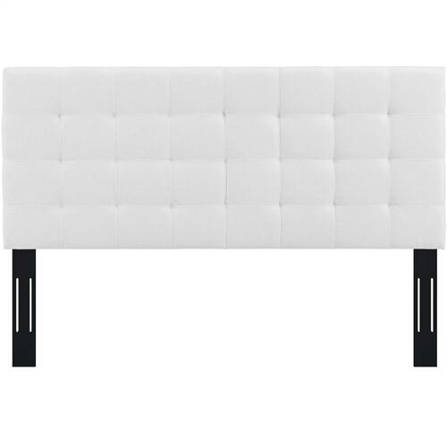 Modway - Paisley Tufted Twin Upholstered Linen Fabric Headboard in White