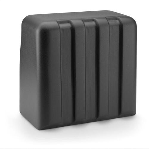 JL Audio - Single M6-10W, Matte Black Fiberglass Sealed Enclosure, Gunmetal Trim Ring, Titanium Sport Grille, 4