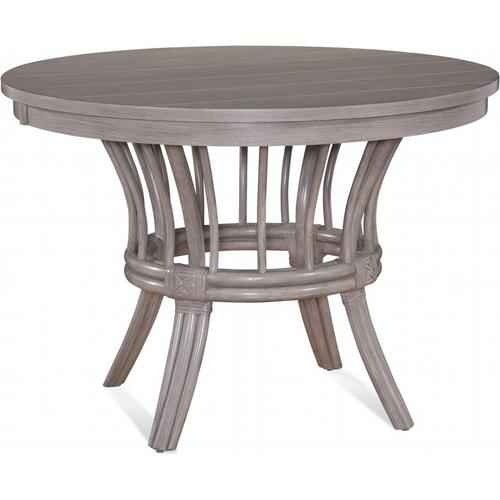 "Meridien Round 48"" Dining Table with Wood Top and Apron"