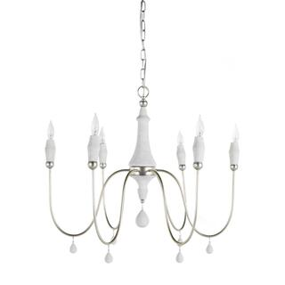 Small Clay Chandelier - Silver