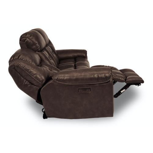 Flexsteel - Buster Power Reclining Sofa with Power Headrests