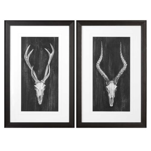 Rustic European Mounts Framed Prints, S/2