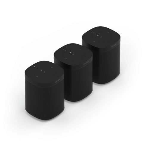 Gallery - Black- A trio of powerful smart speakers for rich sound in up to three rooms.