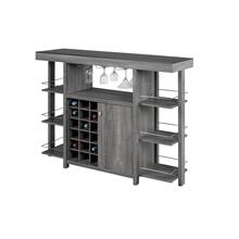 Bar W/ Tempered Smoked Glass Top