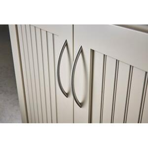 Top Knobs - Solid Bowed Bar Pull 3 3/4 Inch (c-c) Brushed Stainless Steel