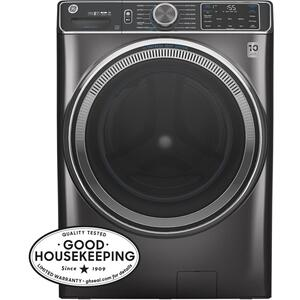 GE® 5.0 cu. ft. Capacity Smart Front Load ENERGY STAR® Steam Washer with SmartDispense™ UltraFresh Vent System with OdorBlock™ and Sanitize + Allergen Product Image