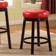 Set of Two Fun Color Wooden Swivel Barstools Counter Height Bloody Red