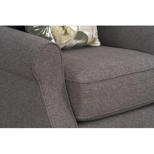 Gallery - Angelina Upholstered Chair, Charcoal