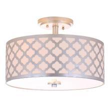 See Details - Kora 3 Light 15-inch Dia Silver Flush Mount - Silver