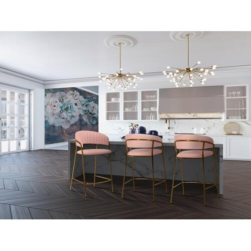 Tov Furniture - Padma Blush Vegan Leather Counter Stool (Set of 2)