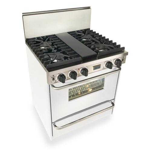 """Five Star - 30"""" All Gas, Convect, Sealed Burners, White"""