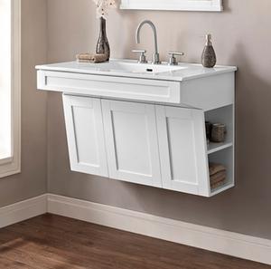 "Shaker Americana - 36"" Wall Mount Vanity - Polar White Product Image"