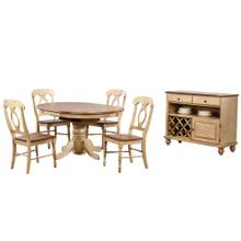 See Details - Round or Oval Butterfly Leaf Dining Set w/Server - Brook (6 piece)