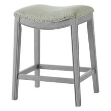 Grover KD Fabric Counter Stool Ash Gray Frame, Lyon Light Green
