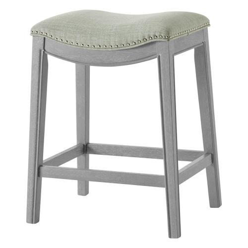 Product Image - Grover KD Fabric Counter Stool Ash Gray Frame, Lyon Light Green