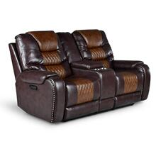Park Avenue Triple Power Console Loveseat, Brown