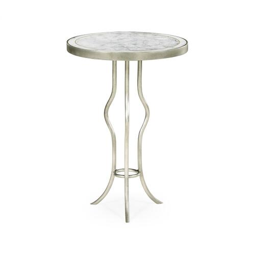 glomise & Silver Iron Round Wine Table