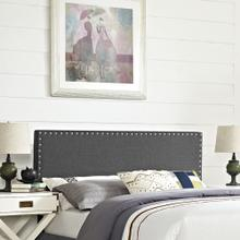 Phoebe Full Upholstered Fabric Headboard in Gray