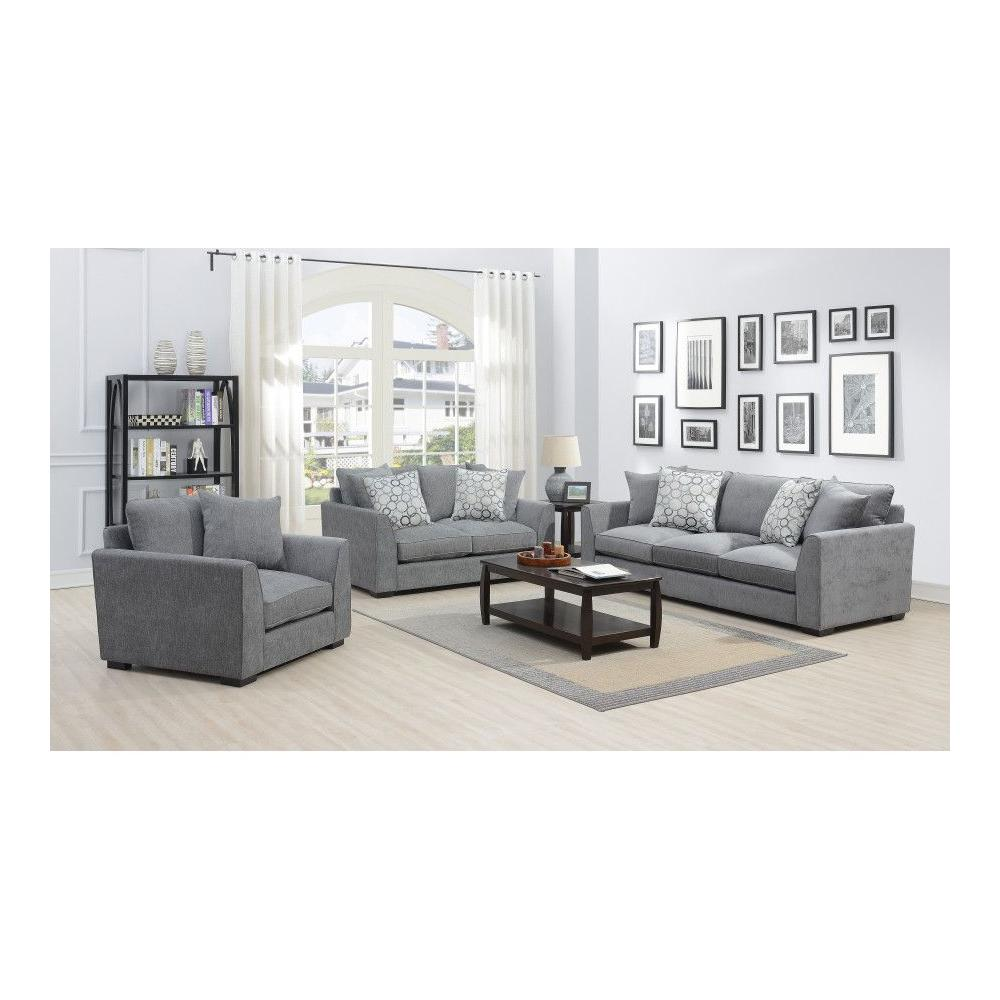 Waverly Gray Sofa, Loveseat & Chair, U4611