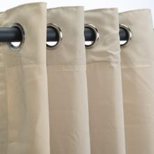 See Details - Sunbrella Canvas Antique Beige Outdoor Curtain with Grommets