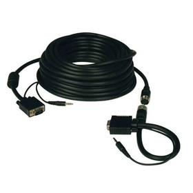 High Resolution SVGA/VGA Monitor Easy Pull Cable with Audio and RGB Coaxial (HD15 M/M), 100 ft. (30.5 m)