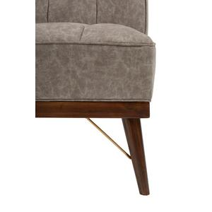 Modern Grey Wood Base Accent Chair